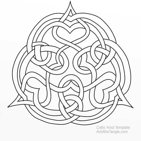 Free Freeform Celtic Knot Templates For Tangling Coloring Doodling These Are Samples From The Design Class