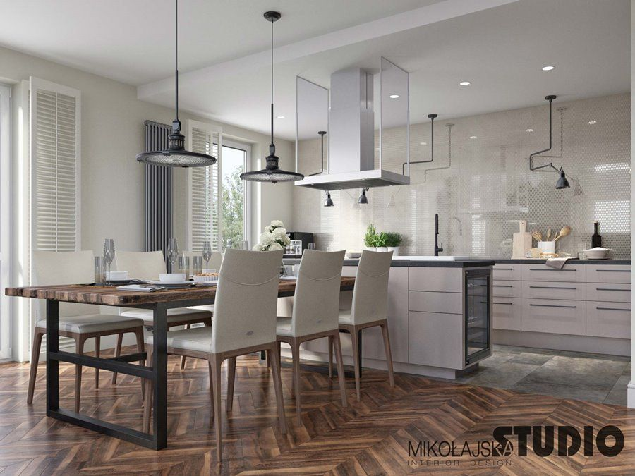 Duza Kuchnia Polaczona Z Jadalnia Elegant Kitchens Home Home Decor