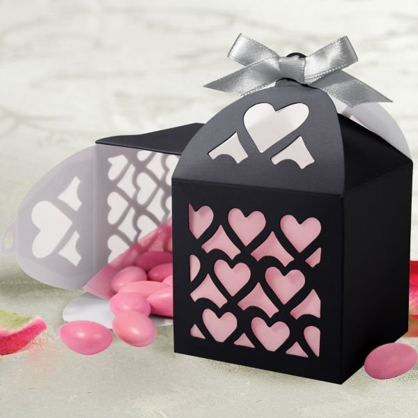 Black Paper Lantern Wedding Favor Kit 50ct Pink Tissue Not Included