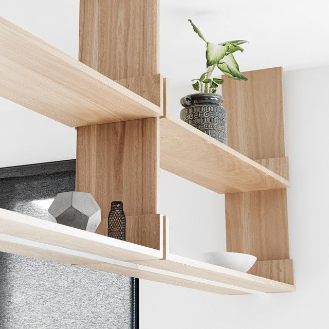 Overhead Solid Timber Shelves At Our Caulfield Residence