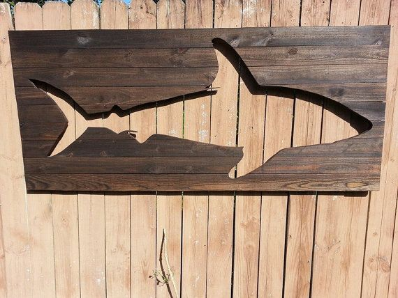 Pallet Wood Wall Art pallet shark wood wall artpeace love wood | collection of etsy