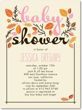 Delightful Baby Shower Invitations. These Are The Ones We Used For Autumnu0027s Shower.