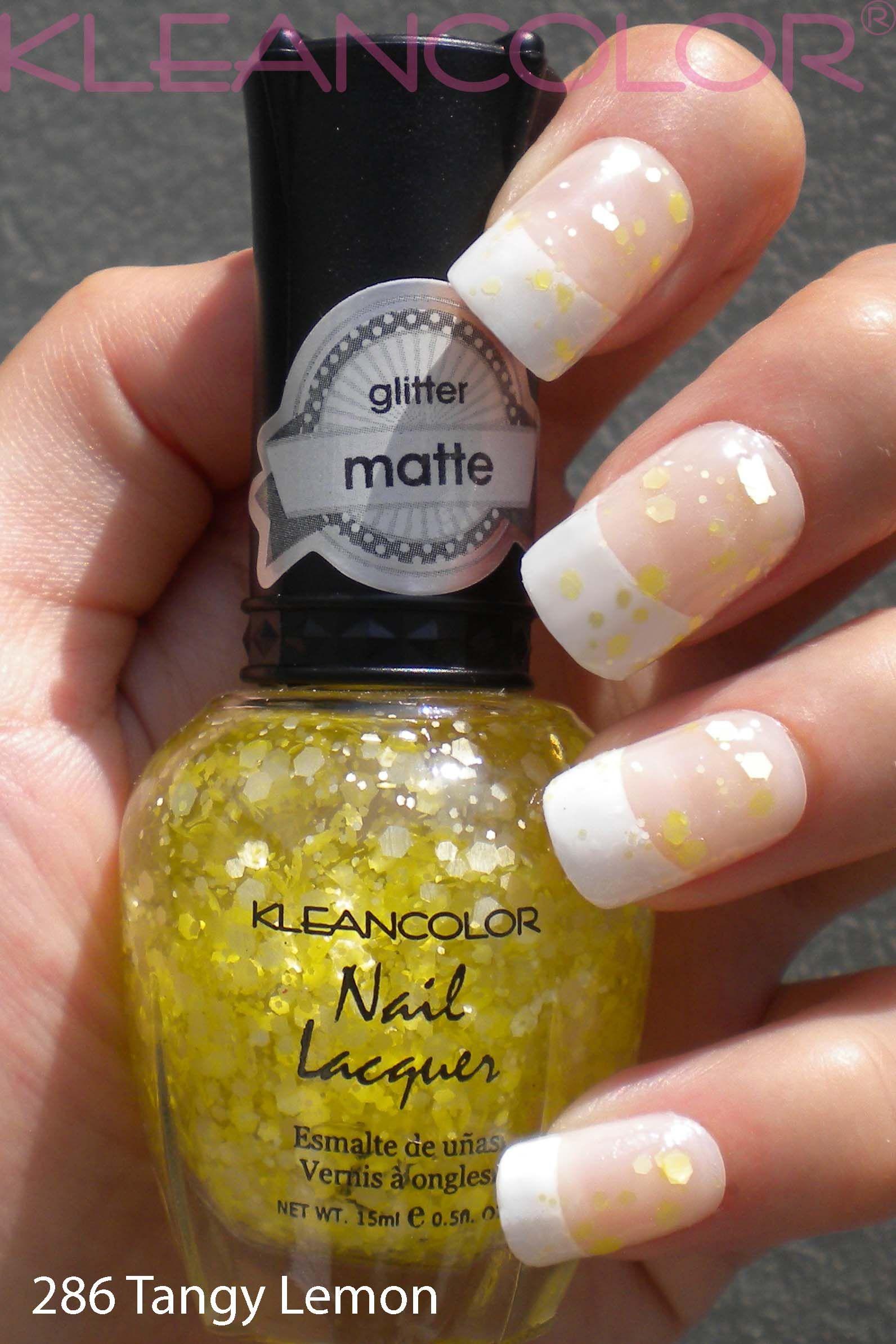 KleanColor 286 Tangy Lemon, glitter matte | #nailpolish #stash ...