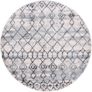 The Curated Nomad Ashton Tribal Area Rug 4 7 Round Dark Gray Area Rugs Round Rugs Colorful Rugs