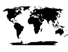 Maybe paint the sea grey and have the continents whitelight grey world map stencil gumiabroncs Gallery