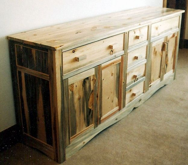 Beautiful solid wood cabinet made with beetle kill pine. # ...