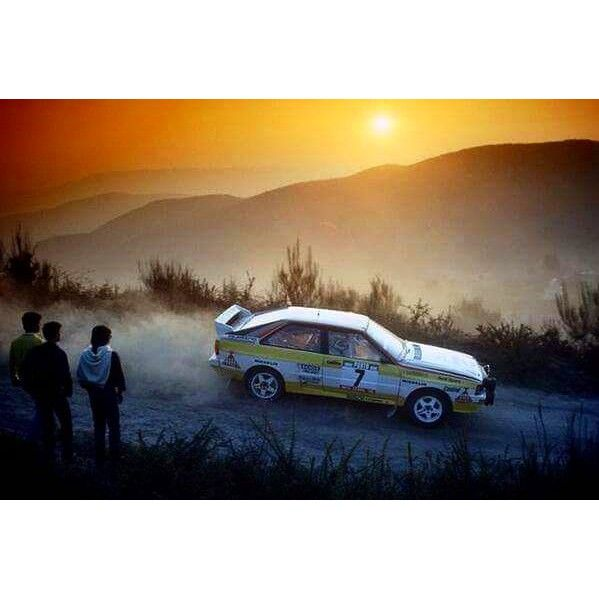 Portugal 1984 Stig Blomqvist.  #wrc #wrcofficial #rally #rallye #audi #audiquattro #groupbrally #quattro #1984 #motor #legend #car #pictureoftheday #sunset #4wd #turbo #portugal