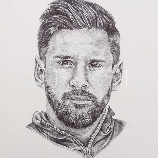 Lionel Messi by albasketch draw drawing illustration art