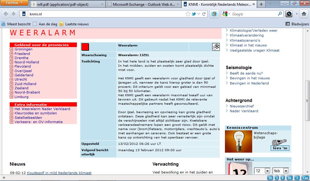 13-2-2012 Het tweede weeralarm van 2012... (een echte horrorwinter :-D )