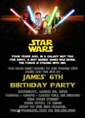Star Wars Invitations Free Printable Birthday Party