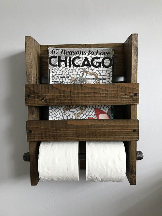Magazine And Double Toilet Paper Holder Rustic Wall Mounted My Mesmerizing Wall Mount Magazine Rack With Toilet Paper Holder
