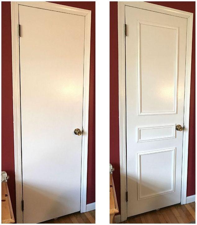 13 Brilliant Ideas To Update Your Boring Doors En 2020 Relooking De Porte Idees Pour La Maison Moulure Porte