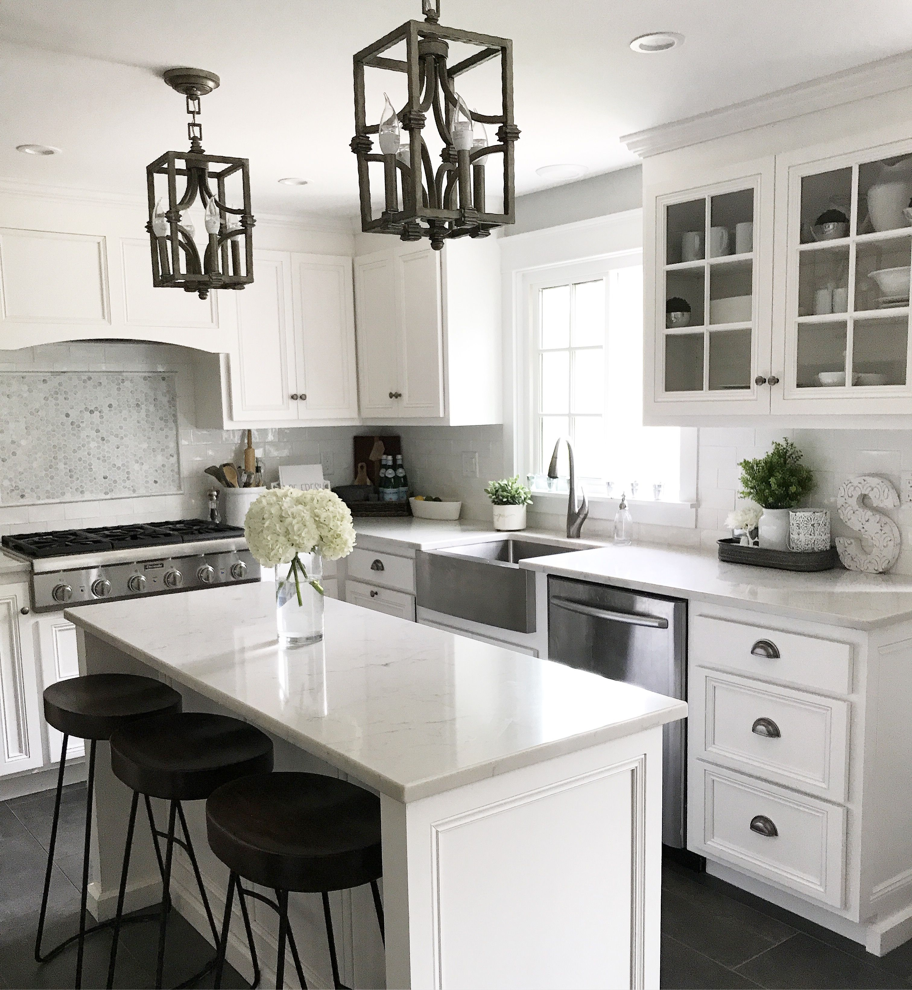 Blue Brick Design and Staging white kitchen home staging home
