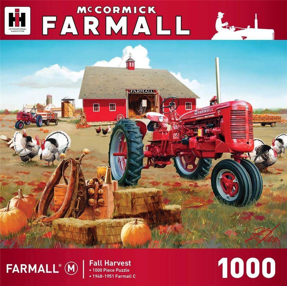 Mccormic Farmall Fall Harvest Tractor Jigsaw Puzzle 1000 Pc