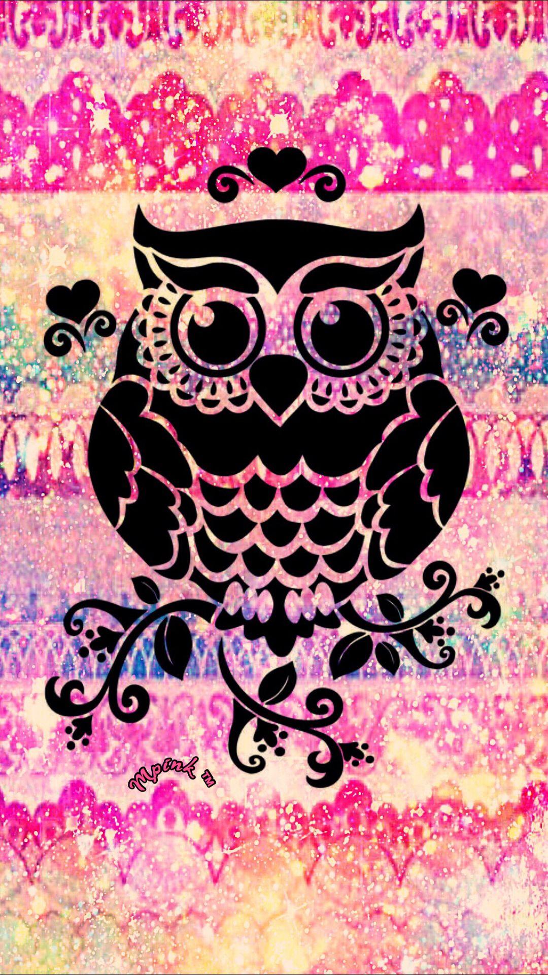 Heart Owl Galaxy Wallpaper #androidwallpaper # ...