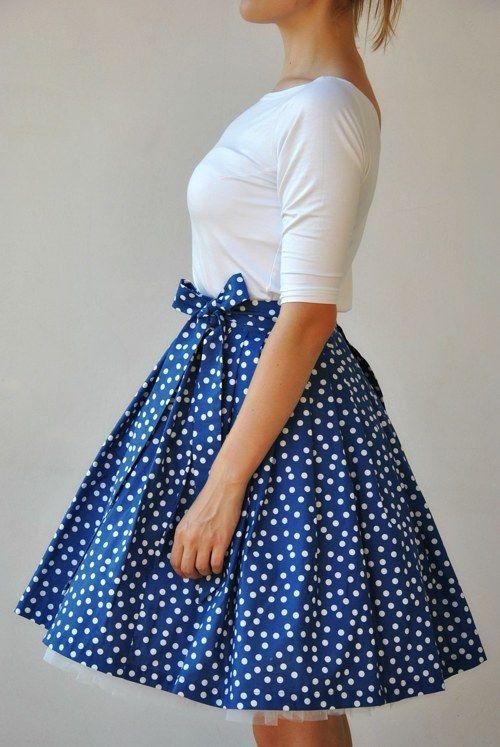 Zavinovací sukně Modrobílé puntíky!  28af9b5720
