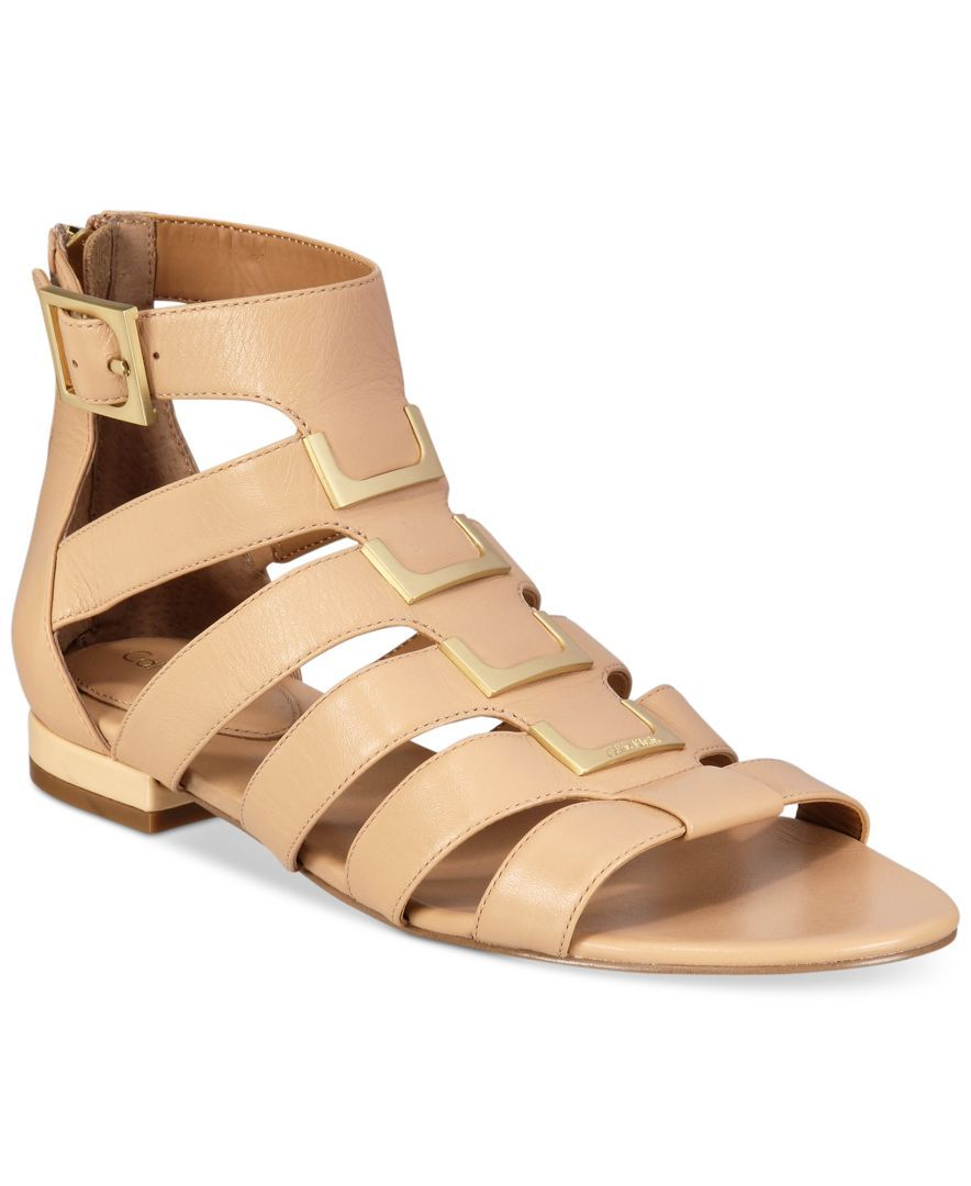 858083ea25f6 Calvin Klein Women s Estes Gladiator Flat Sandals