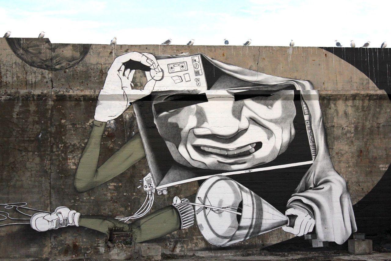 Street art | Mural detail (Komafest 2012, Vardø, Norway) by Claudio Ethos