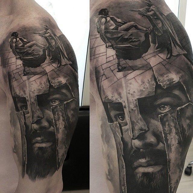 resultado de imagen de spartan 300 tattoo sleeve tatuajes pinterest gladiator tattoo. Black Bedroom Furniture Sets. Home Design Ideas
