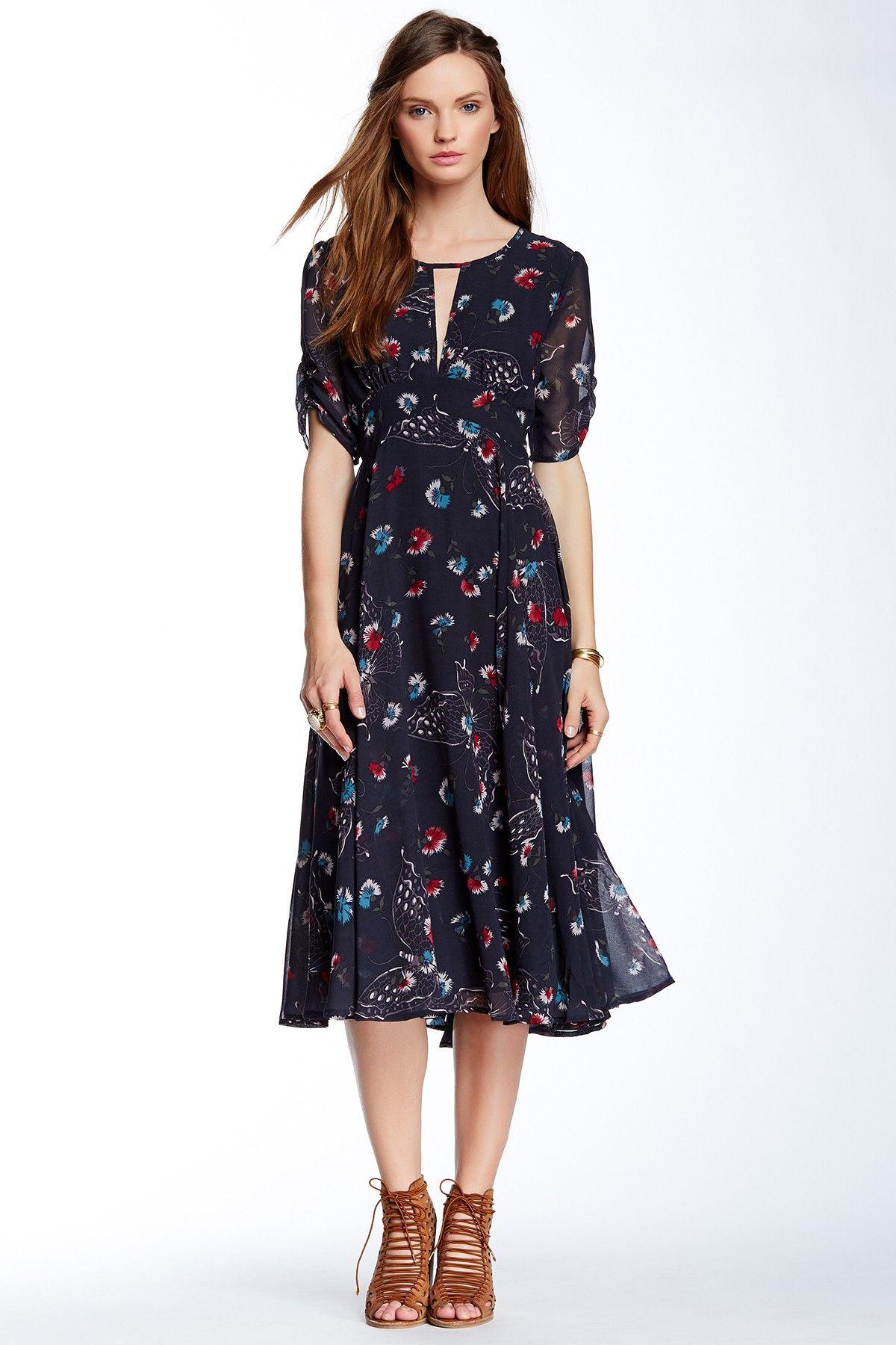 Free People Bonnie Floral Print Dress Floral Print Dress
