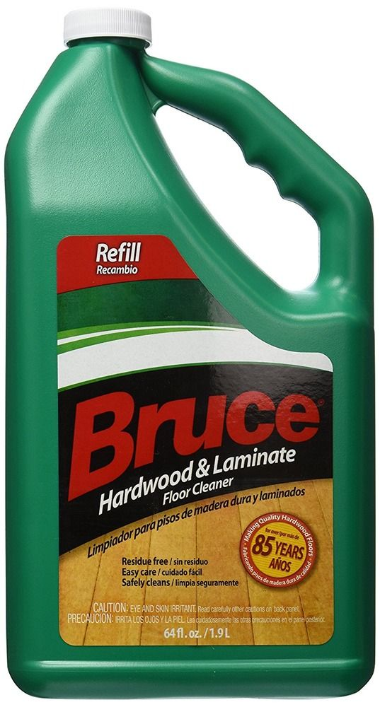 Residue Free 64 Fl Oz Hardwood Laminate Floor Cleaner No Rinse Liquid Cleaner Bruce Laminate Flooring Floor Cleaner Flooring