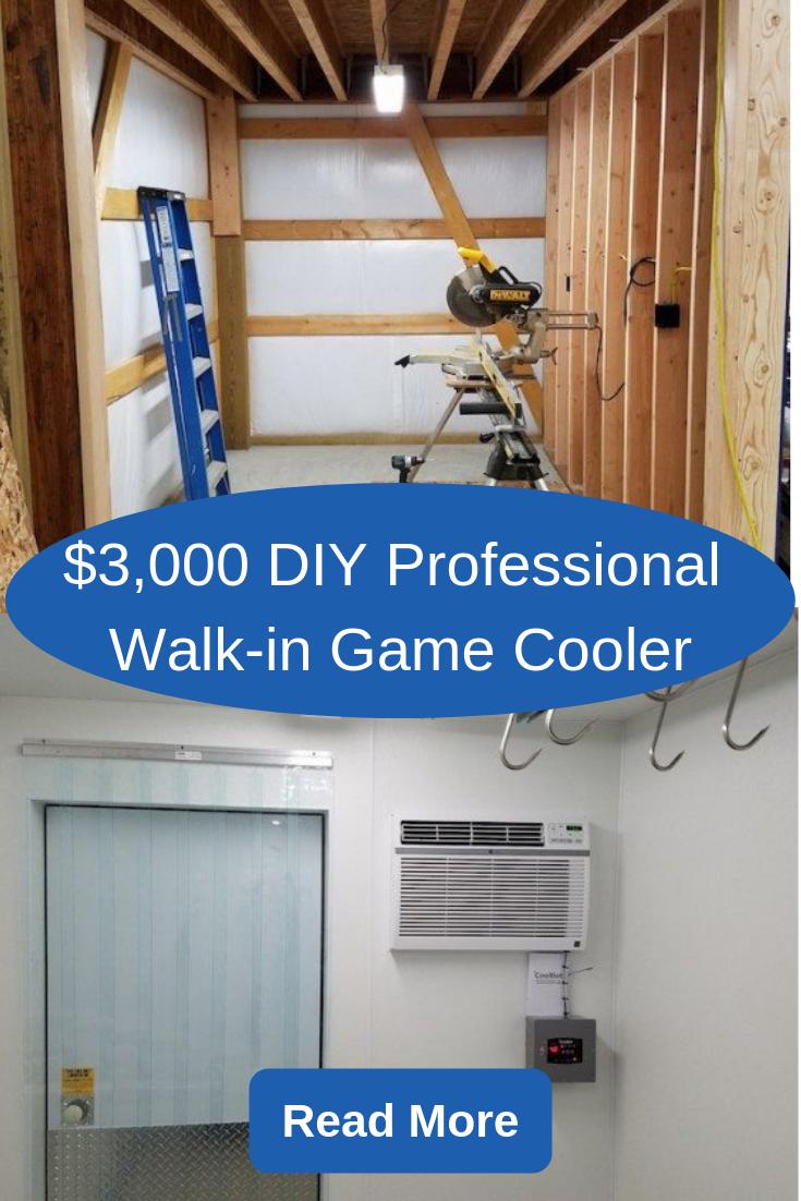 How Jason Lyman Built A Professional Walk In Meat Cooler On A Tight Budget Diy Cooler Walk In Freezer Diy Locker