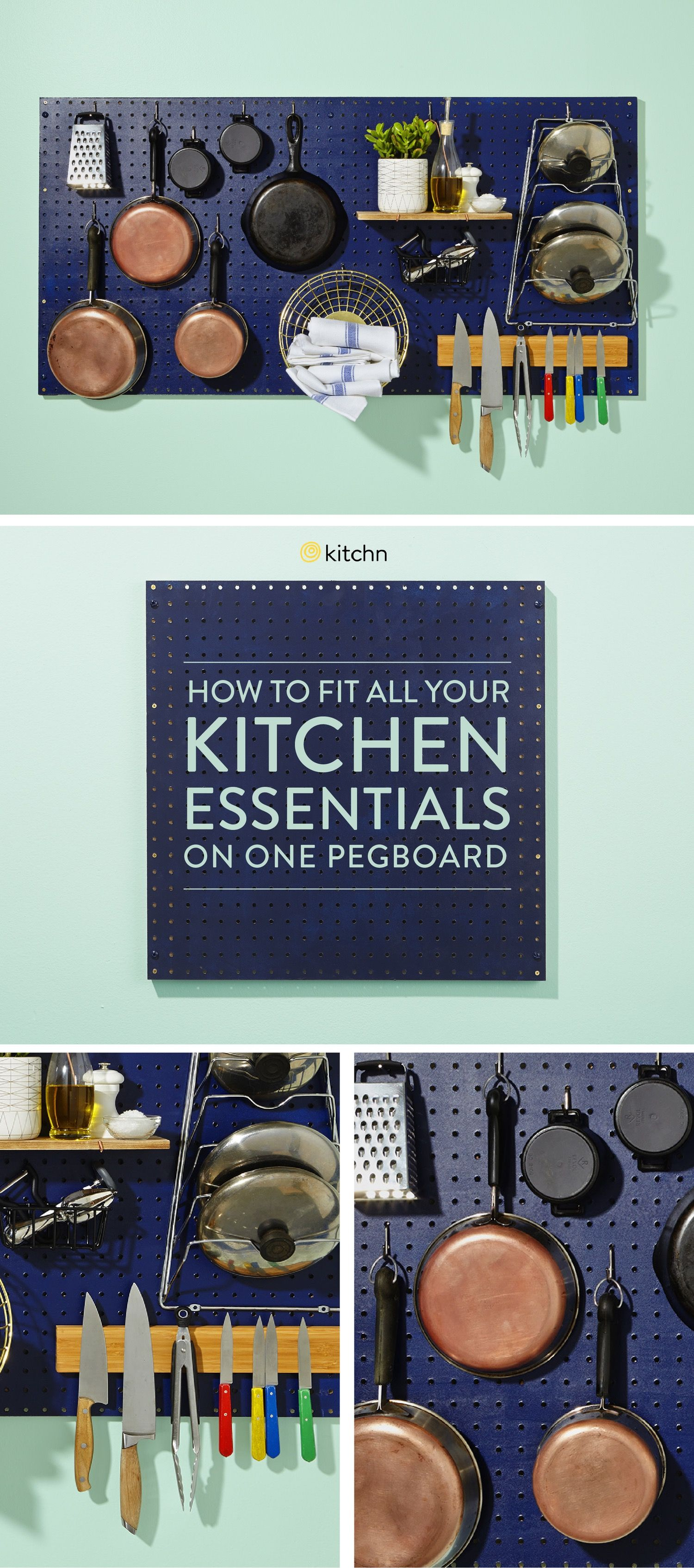 Küchenideen groß how to store every kitchen essential on one pegboard  interior