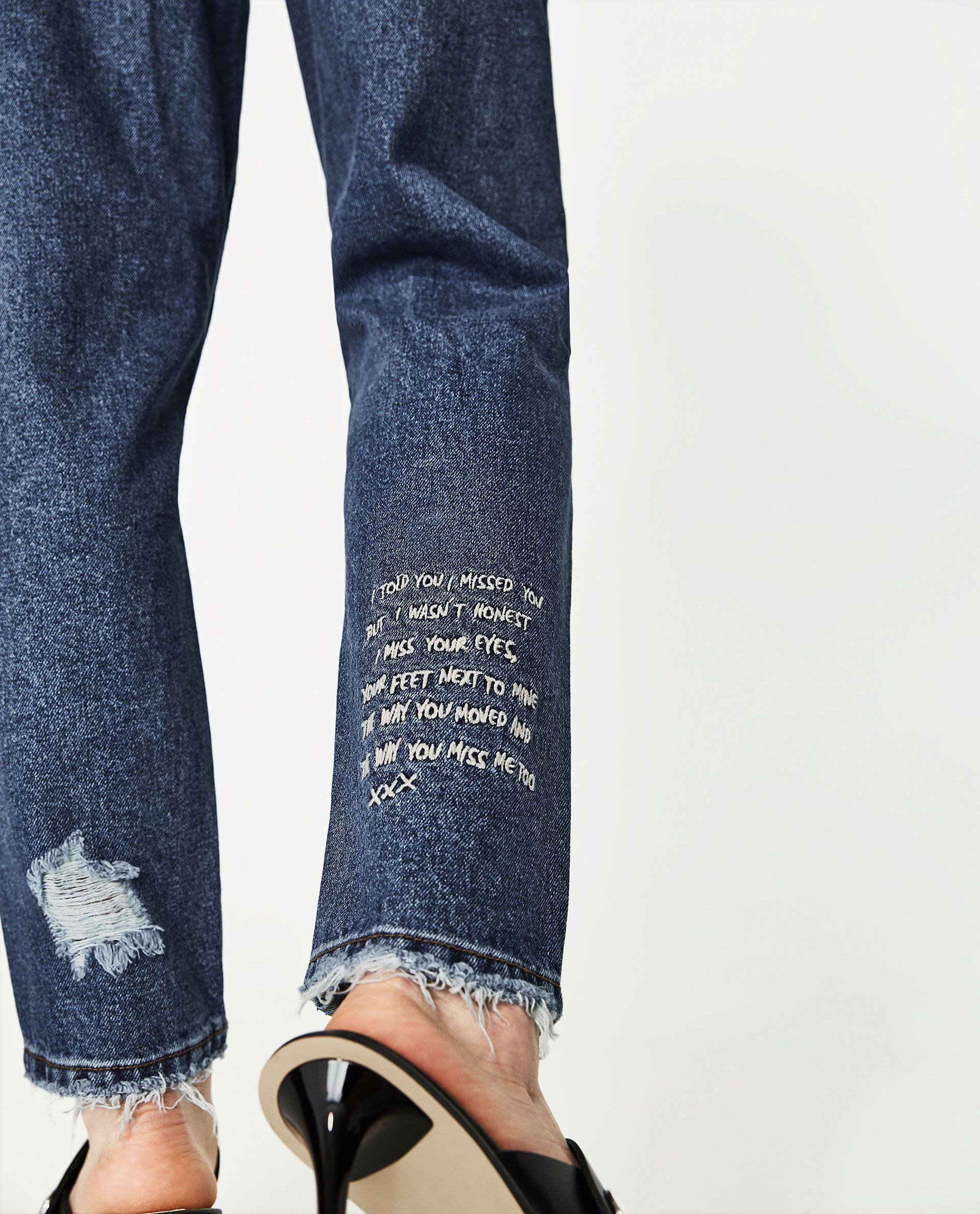 Jeans Mom Fit Tiro Alto Rotos Crear Ropa Ropa Ropa De Moda