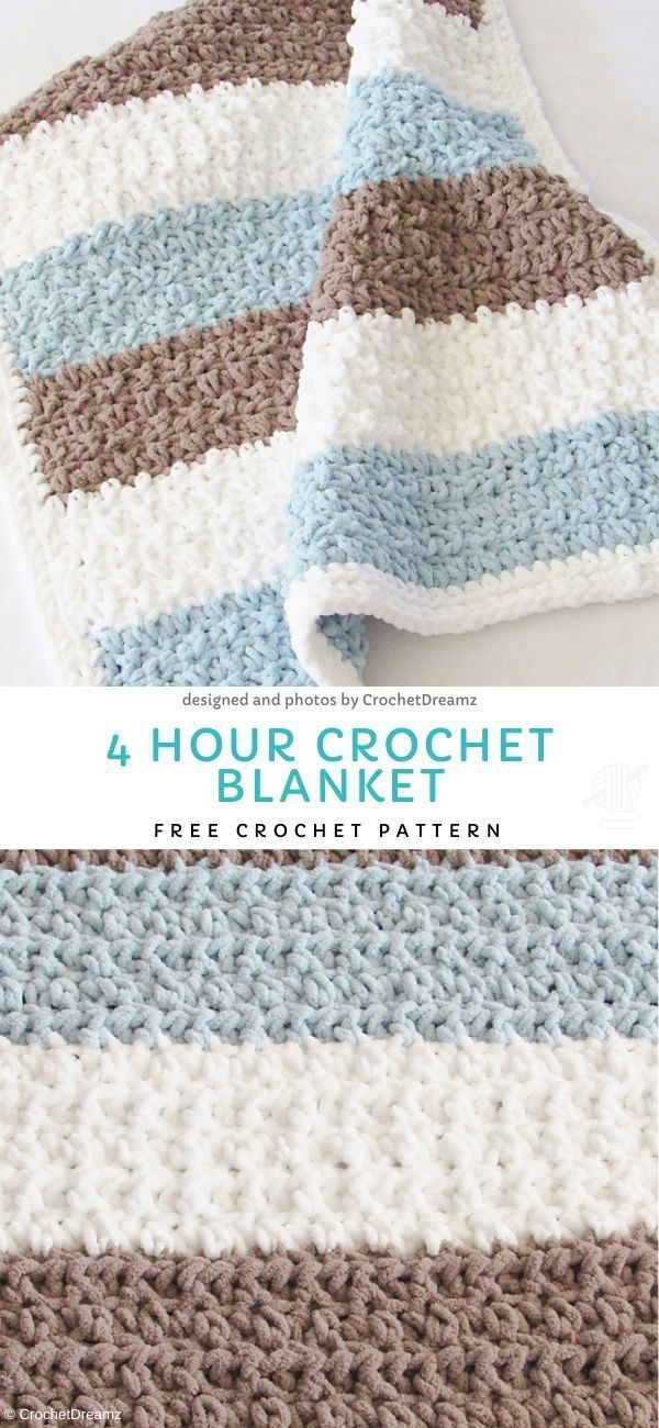 Photo of 4 Hour Crochet Blanket Free Crochet Pattern