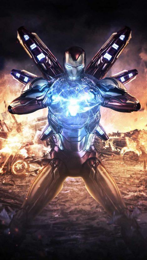 Iron Man Avengers Endgame Fight iPhone Wallpaper Free