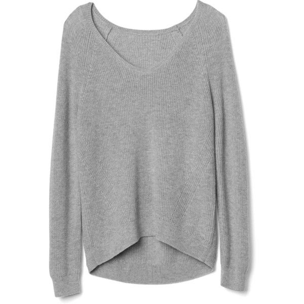 Gap Women Soft Textured Merino Wool Blend Sweater ($40) ❤ liked ...