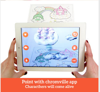 Chromville Downloading The Free App And Then Printing Out The Pages To Color As A Student Colors One Of T Augmented Reality Mobile App Android Coloring Pages