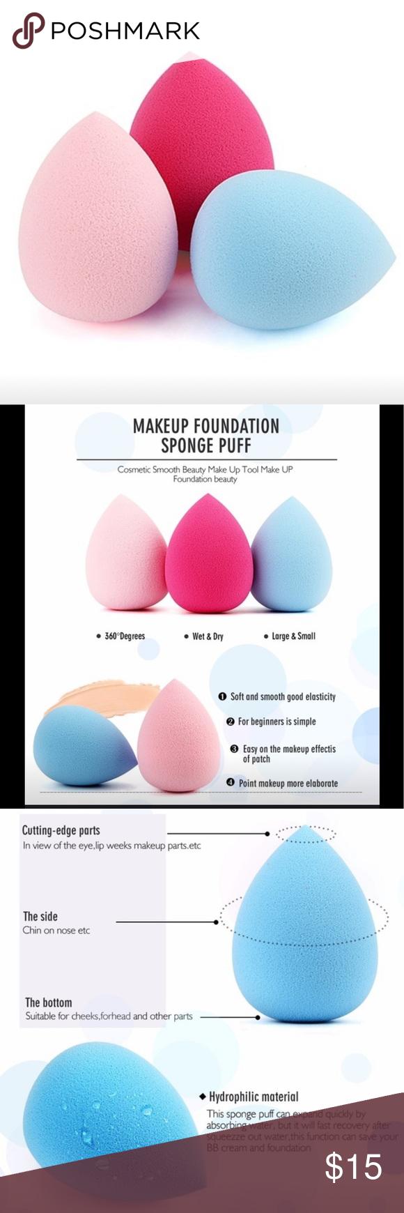 4 MakeupSchwämme 4 in 1 Ermöglicht jedes Mal eine