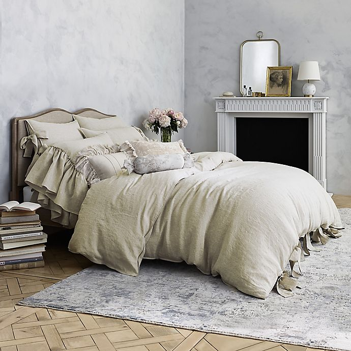 Wamsutta Vintage Abigall Lumbar Throw Pillow In Linen Bed Bath And Beyond Canada King Duvet Cover Bed Pillows Decorative Wamsutta