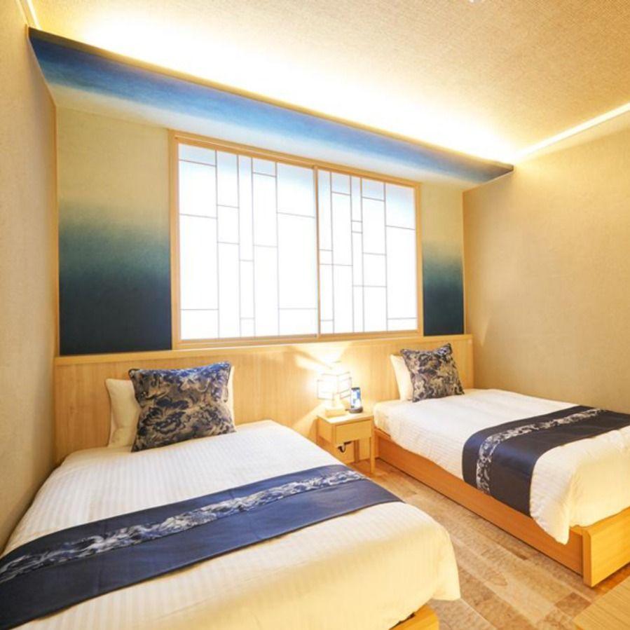 空間装飾 和紙壁紙 アクセントクロス ホテル 染色 インテリア