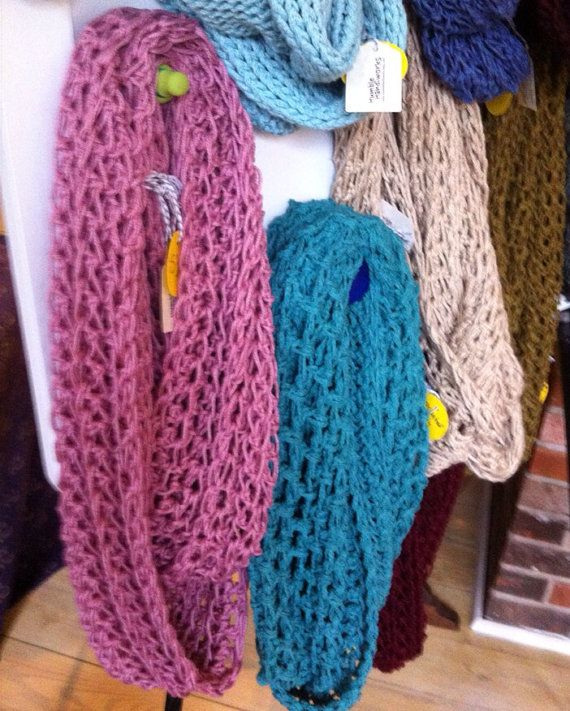 Lightweight Infinity Scarf crocheted in an by ...