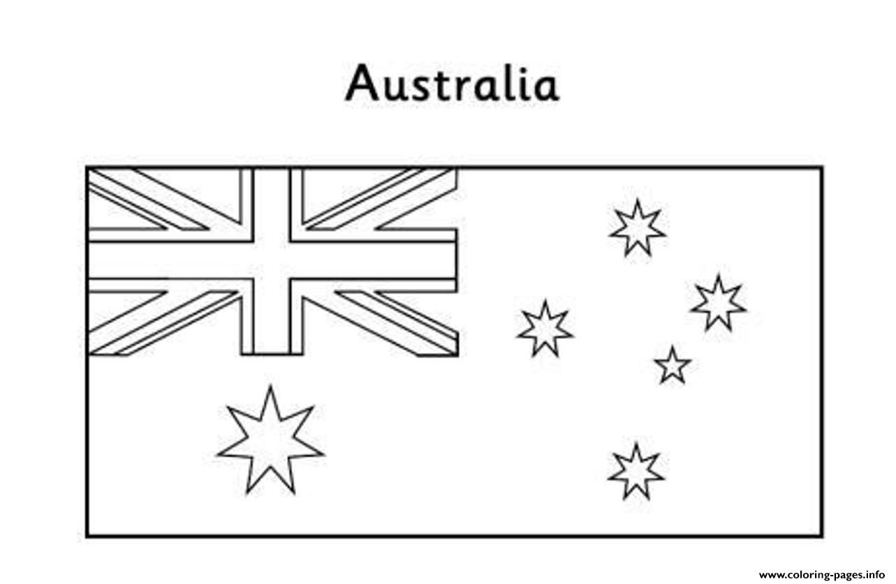 Print Australian Flag Free Coloring Pages