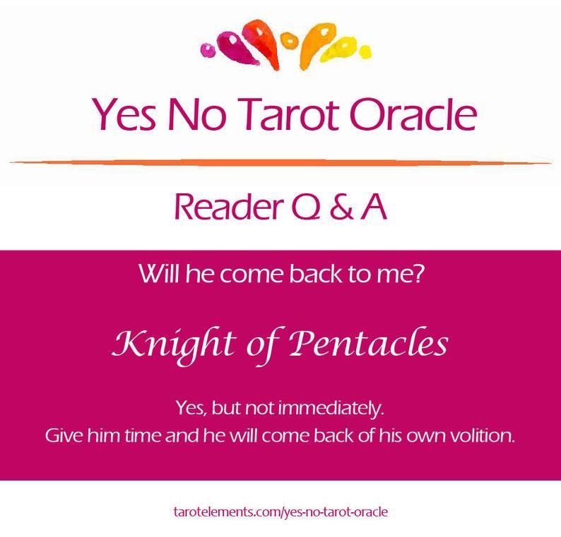 Yes No Tarot Oracle Reading in 2020 Oracle reading