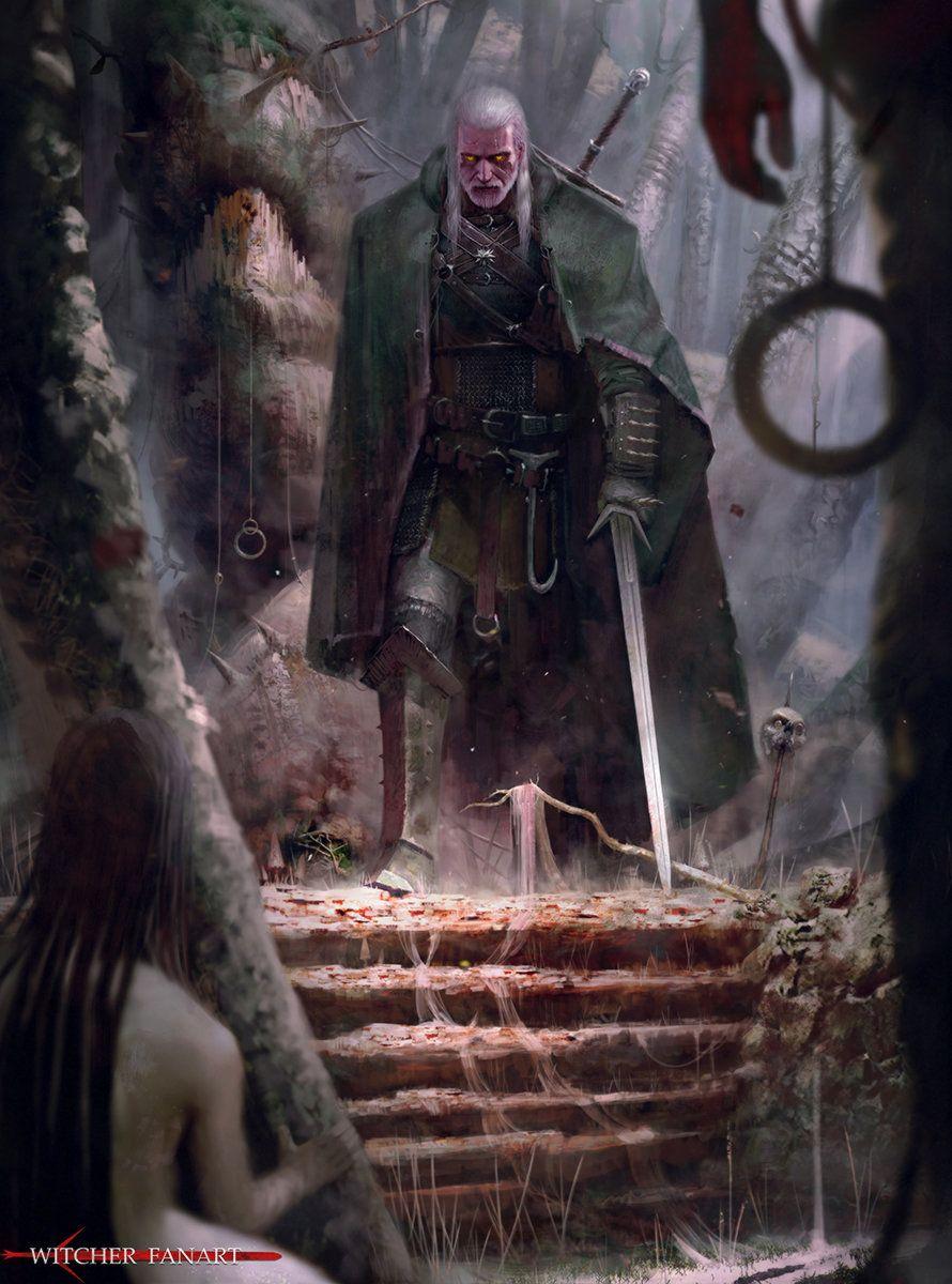 Witcher , Pio Foks on ArtStation at https://www.artstation.com/artwork/witcher-fanart-8fbdd643-de49-4061-abfa-6db57e68e631
