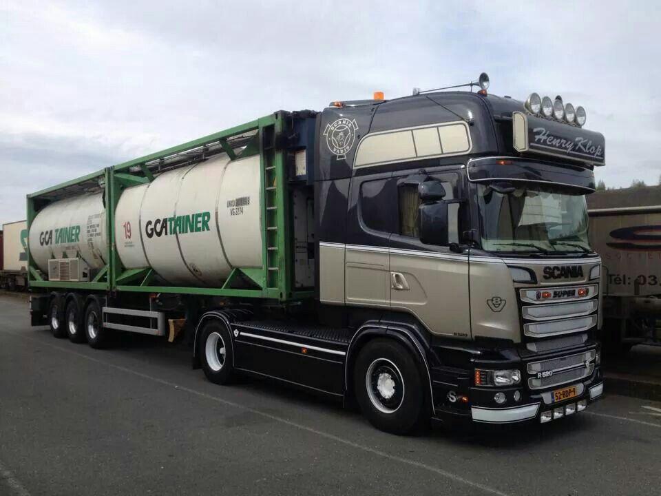 Scania Truck With A Tank Container Tanker Trucking Big Trucks Custom Trucks