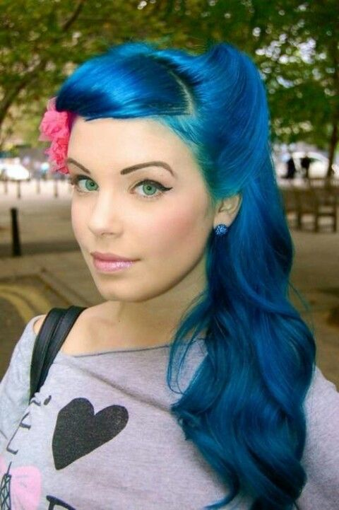 Blue princess hair - my what beautiful eyes you have! Global Laser Vision
