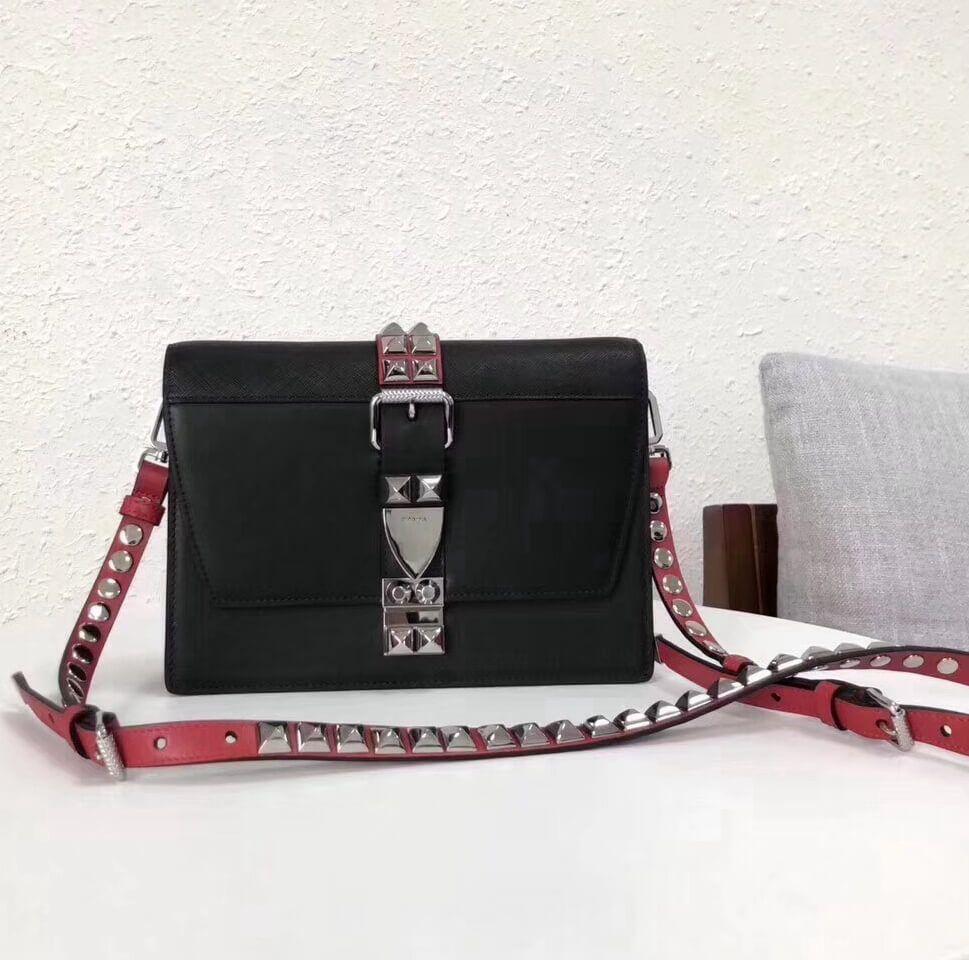 c36cfd33facf Prada Elektra Calf Leather Bag 1BD120 Black 2018 | leather in 2019 ...