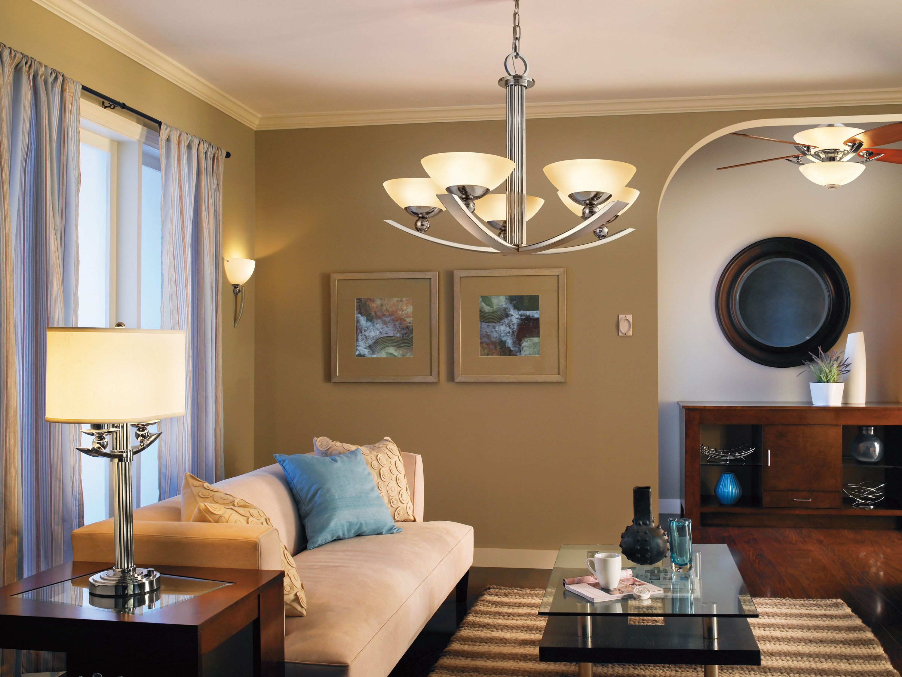Palla Lamp Chandelier and Ceiling Fan from Kichler Lighting