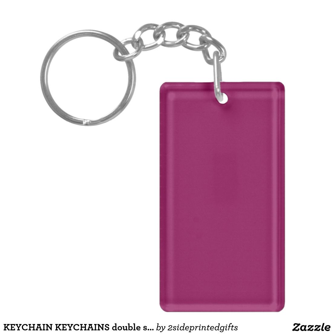 KEYCHAIN KEYCHAINS double sided ADD text photo DIY | Zazzle