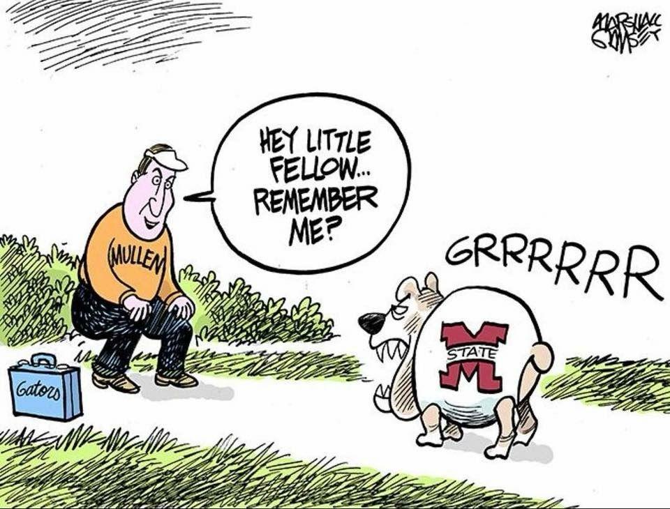 Marshall Ramsay cartoon Msu bulldogs, Mississippi state