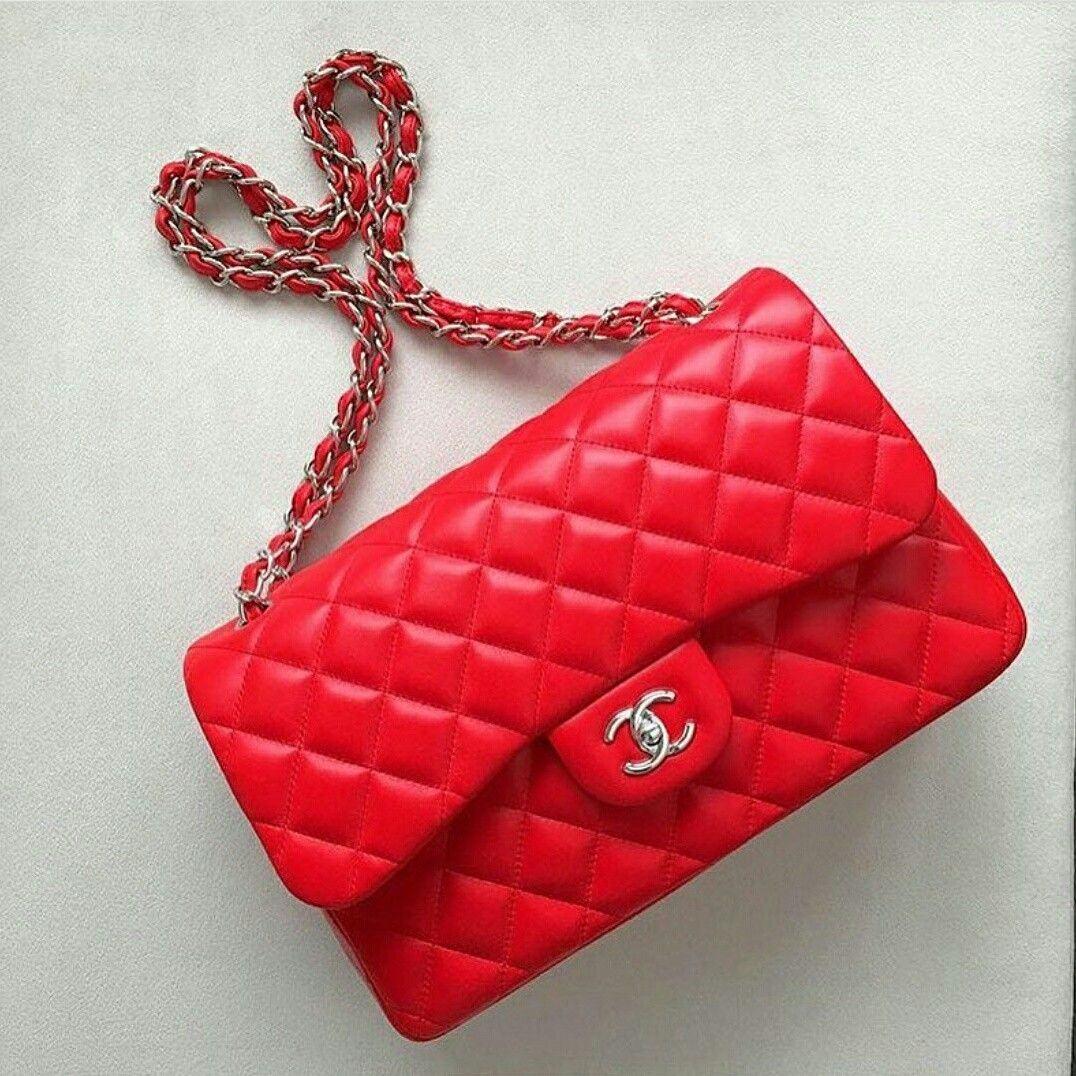 In Love With Red Chanel Double Flap Classic Lamb Leather Bag Chanel Chaneldoubleflap Chanelclassic Ikinciel Chanel Double Flap Women Handbags Chanel Dubai