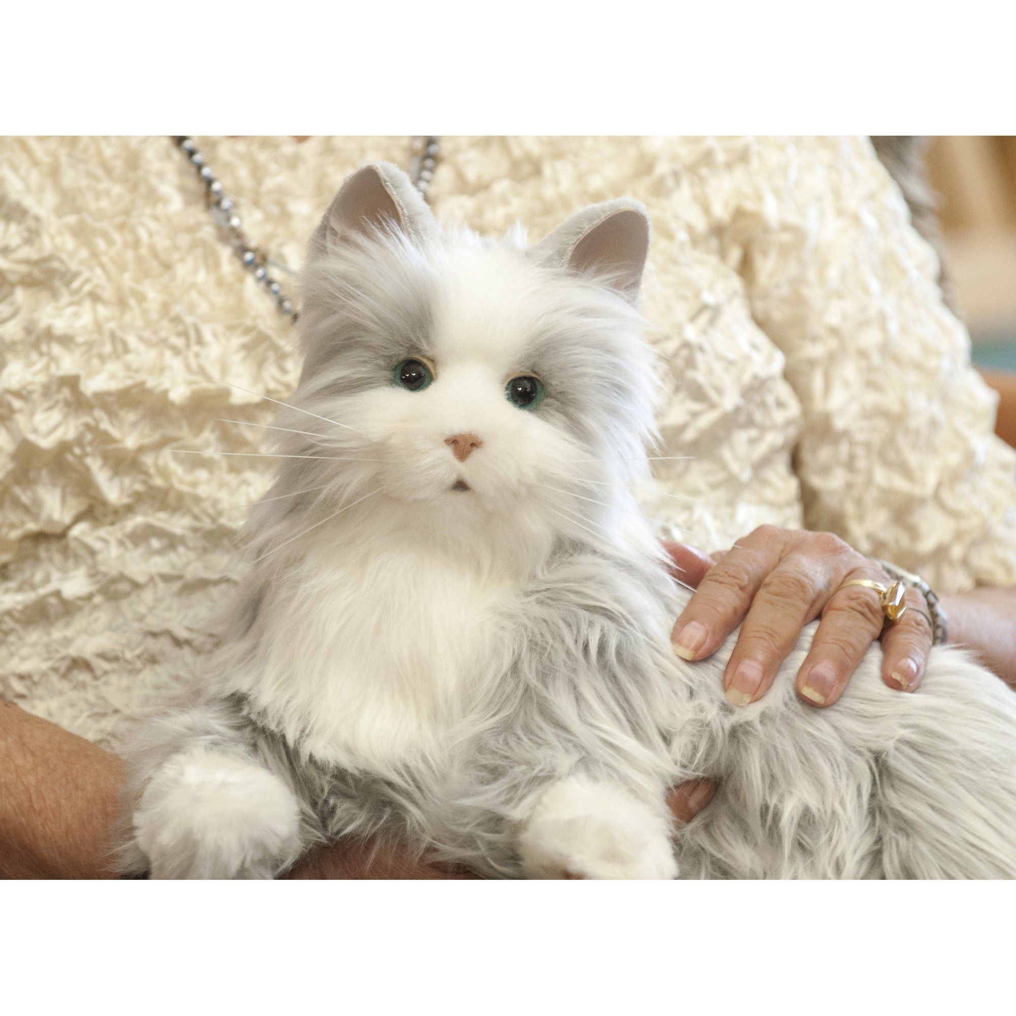 Joy For All Silver Cat With White Mitts Details Can Be Located By Clicking On The Image This Is An Affiliate Li Cuddly Animals Pets Cats Fur Real Friends