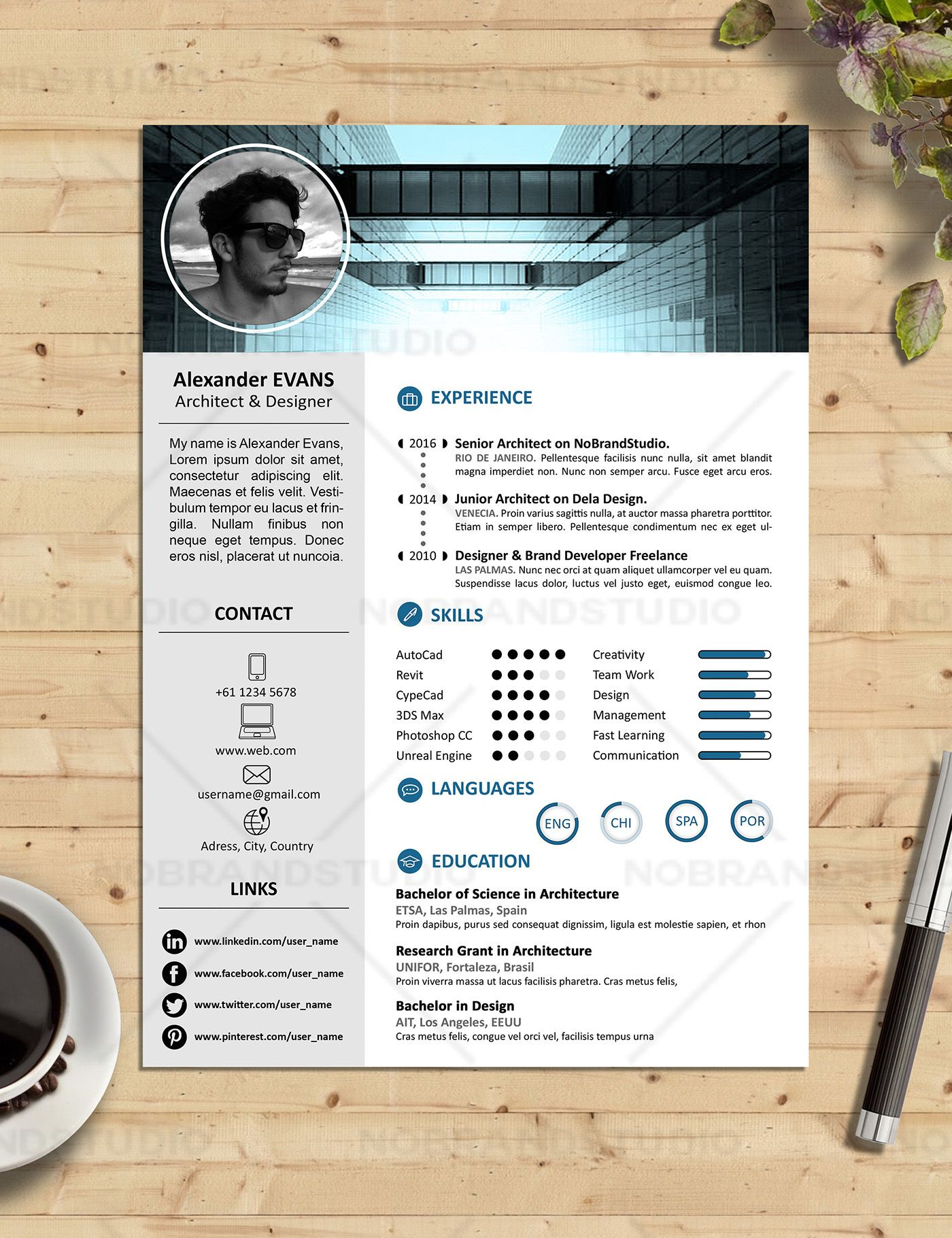Echa un vistazo a mi proyecto behance u201ccvs cover letters curriculum cover letter business cards mockups documents easy to modify and ready to print designed to impress the employers and get the job of your magicingreecefo Gallery