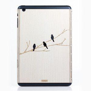 iPad Mini Bird On Branch Ash