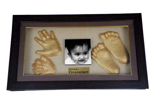 Gravelart baby impression kit with wooden frame do it yourself gravelart baby impression kit with wooden frame do it yourself solutioingenieria Choice Image